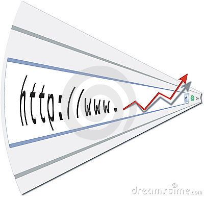 Web profits from internet site