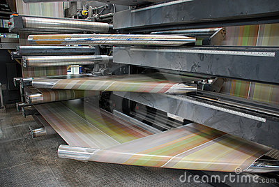 Web (rolls) offset press - Detail