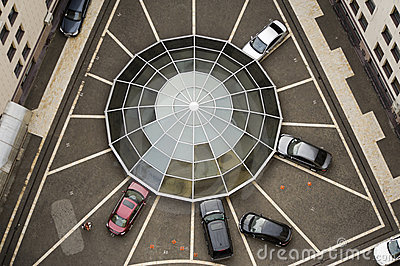 Web-shaped car parking