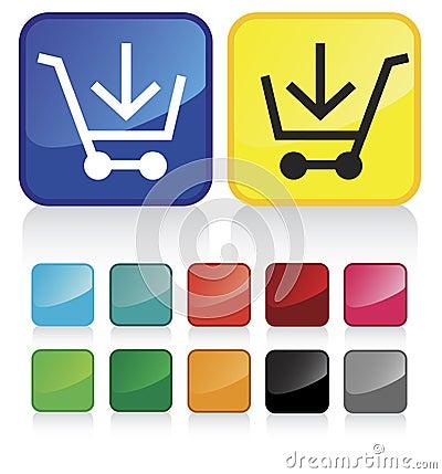 Web shopping cart buttons