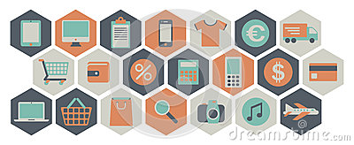 Web shopping icons