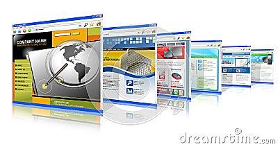 Web site del Internet de la tecnología que se levantan