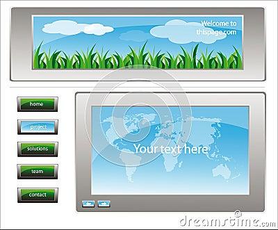 Web site design template 26