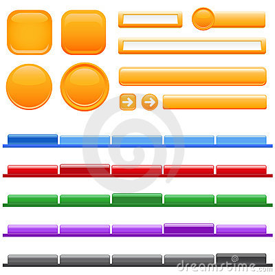 Free Web Site Menu And Button Stock Photo - 5047800