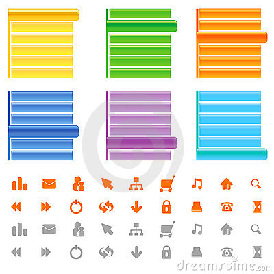 Free Web Site Menu And Icon Set Stock Photography - 5047822