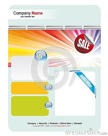 Web Site Sales Template