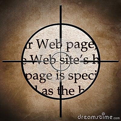Web site target