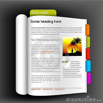 Free Web Site Template - Open Book Stock Photography - 13542572