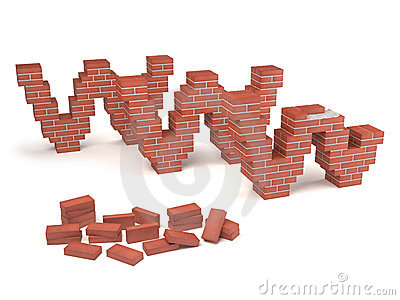 Web site under construction - bricks