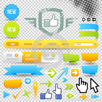 Web Template Icon and Arrows
