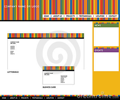 Web template and stationery