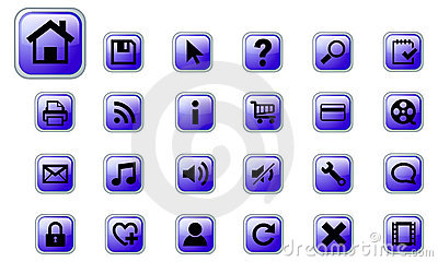 Web vector icons set