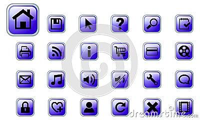 Web vector icons set