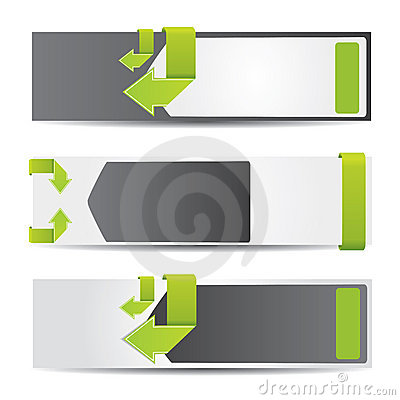 Free Web2 Horizontal Banner Set With Arrows Stock Images - 19879304