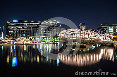 Webb Bridge and ANZ Bank offices Editorial Photo