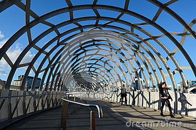 Webb Bridge - Melbourne Image stock éditorial