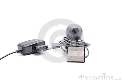 Webcam with Card Medium and Power Plug