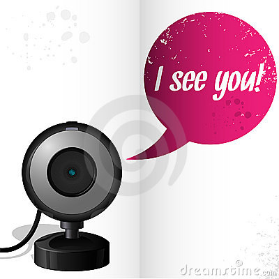 Webcam with text I see you