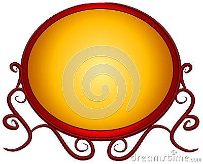 Webpage Logo Red Gold Fancy
