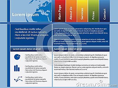 Webpage template design
