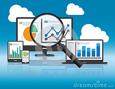 Website analytics and SEO data analysis concept.
