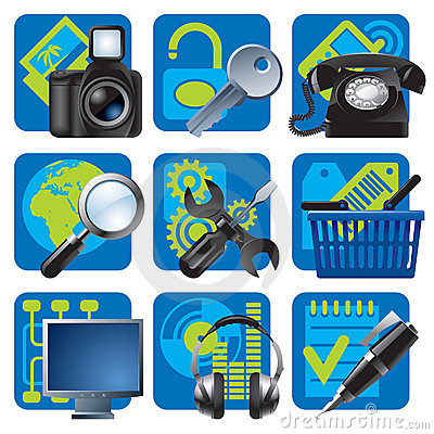 Free Website And Internet Icons 1 Stock Images - 4614074