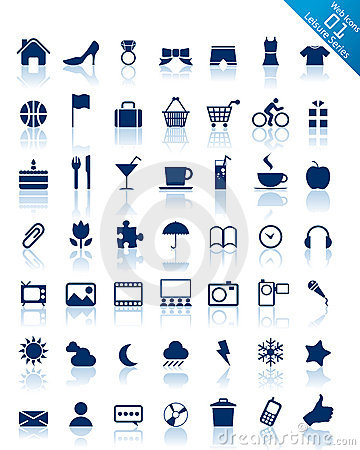 Free Website And Internet Icons -- Leisure Series Stock Photo - 8745000