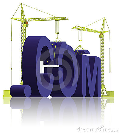 Free Website Building .com Web Under Construction Royalty Free Stock Photo - 13219855