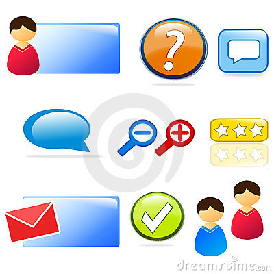 Website & customer support icon set