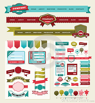 Website design elements