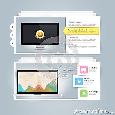 Free Website Design Infographics Elements: Vcard Portfo Stock Photo - 36736910