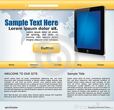 Website design with mobile device