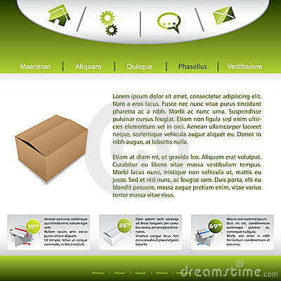 Website design with product presentation