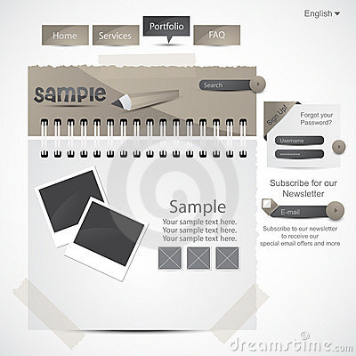 Website Design Template Stock Photography - Image: 19949892