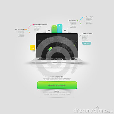 Free Website Design Template Elements: Mock-up Vcard Te Royalty Free Stock Photography - 36736817