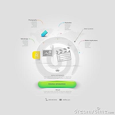Free Website Design Template Elements: VCard Portfolio Stock Photo - 36736750