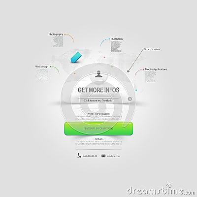 Free Website Design Template Elements: VCard Portfolio Royalty Free Stock Photo - 36736795