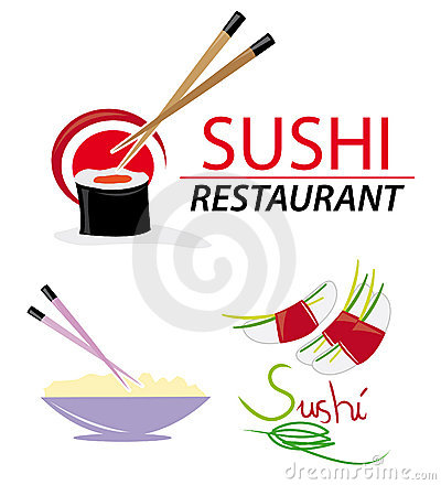 Website elements with sushi