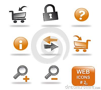 Website för del för 2 symbol set