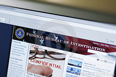 Website of FBI - main internet page Editorial Stock Image