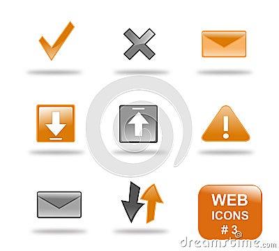 Website för del för 3 symbol set