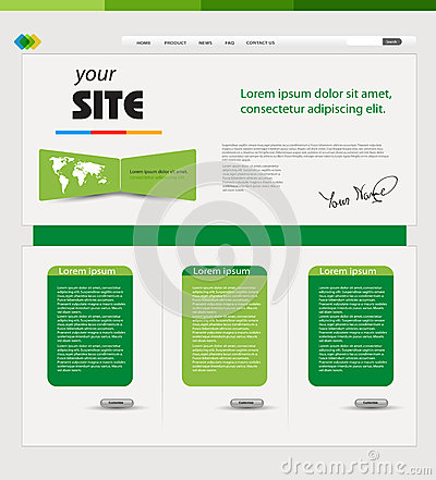 Website green template