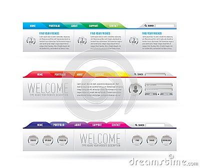 Website header with navigation menu