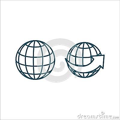 Free Website Icon Vector Line Art Royalty Free Stock Photo - 117092785
