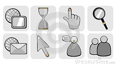 Website And Internet Icons Royalty Free Stock Photos - Image: 7015708