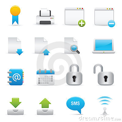 Free Website & Internet Icons Set | Indigo Serie 02 Royalty Free Stock Photography - 14714867
