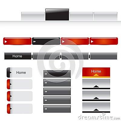 Free Website Menu Set Stock Image - 28600361