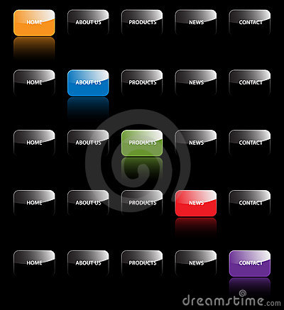 Free Website Navigation Tabs Buttons Design Web Site Bar Bars Menu System Vector Template Development Icon Icons Map Black Elements Royalty Free Stock Images - 8909179