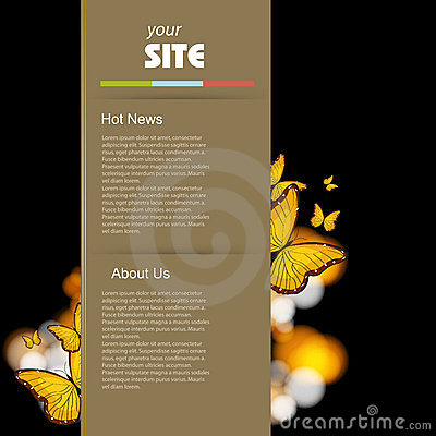 Website retro template design