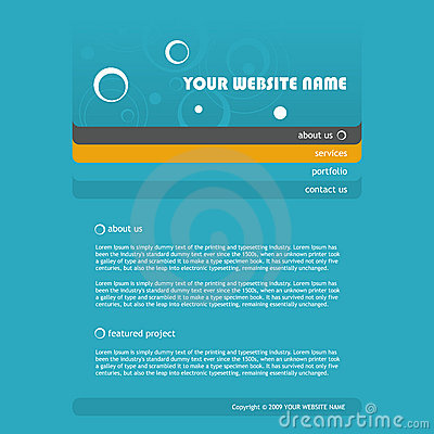 Website Template Royalty Free Stock Images - Image: 11023609